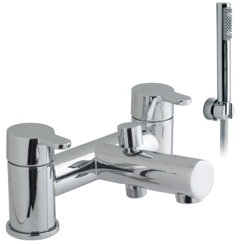 Vado Sense 2 Hole bath shower mixer with kit SEN-130+K-C/P