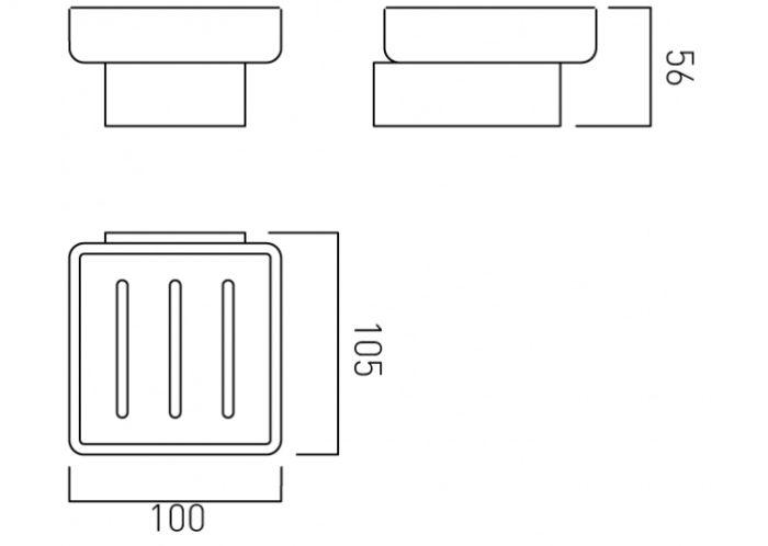 Vado Shama tumbler and holder wall mounted SHA-182-C/P
