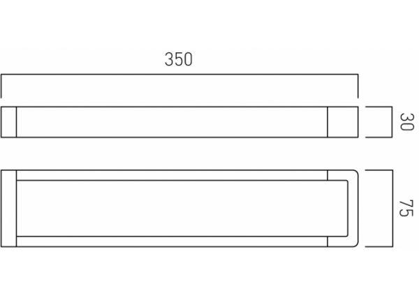 """Vado Shama towel rail 600mm (24"""") wall mounted SHA-184-C/P"""