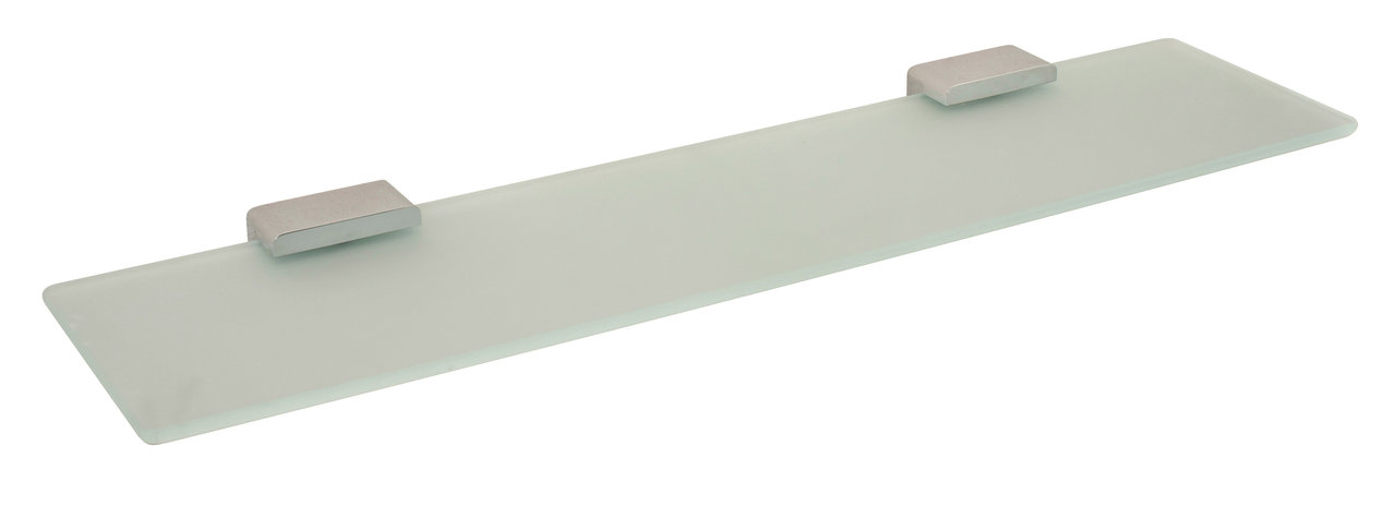 Vado Shama frosted glass shelf 530mm wall mounted SHA-185-C/P