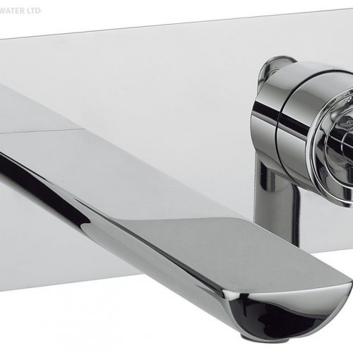 Crosswater Silk Wall Mounted Concealed Basin Mixer SI121WNC