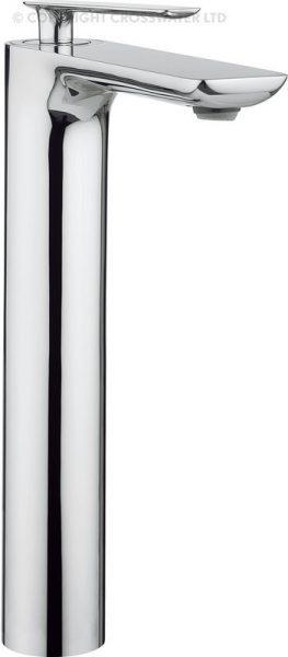 Crosswater Silk Tall Basin Monobloc Mixer Tap SI112DNC-0