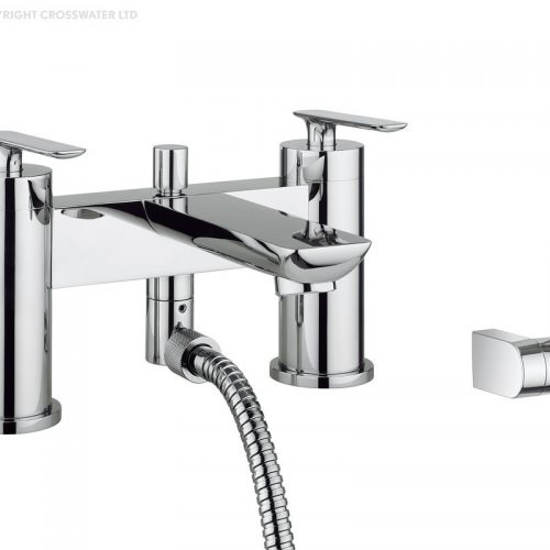 Crosswater Silk Deck Mounted Bath Shower Mixer Tap SI422DC