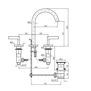 Zucchetti Simply Beautiful 3H Basin Mixer ZSB5412