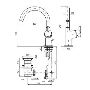 Zucchetti Simply Beautiful Basin Mixer ZSB249