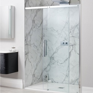 Simpsons Ten Frameless Sliding Shower Door 1600mm TSLSC1600
