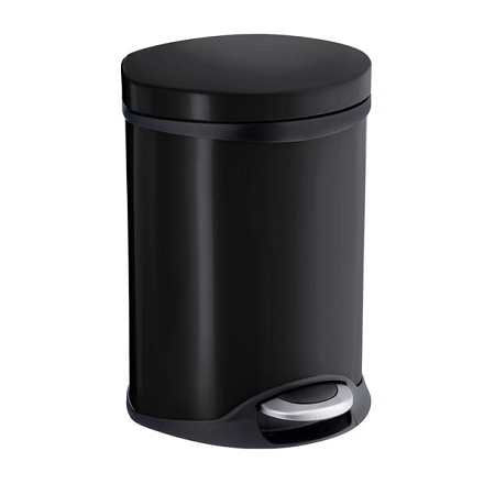 Smedbo 6 Litre Black Bathroom Pedal Bin FK665-0