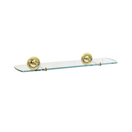 Smedbo Villa Polished Brass Traditional Glass Shelf V247-0