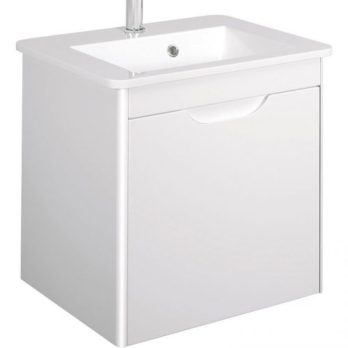 Bauhaus 50 Vanity Unit Only in White gloss SO5500DWG
