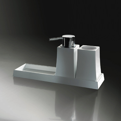 Sonia S7 Soap Dish Tumbler Dispenser Freestanding 131822