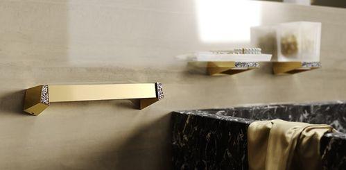 Sonia S8 Swarovski Crystals 80cm Towel Rail 165001 Gold
