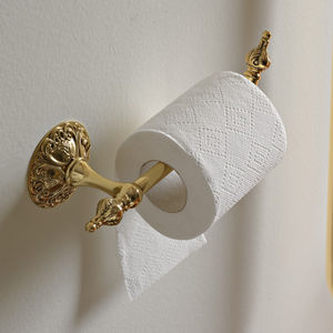 Sonia S8 Swarovski Toilet Roll Holder with Cover 165049 Gold