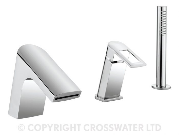 Crosswater Slip Bath Shower Mixer with Diverter SP421DC