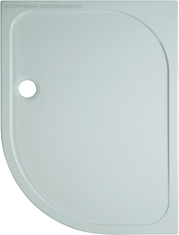 Simpsons 1000mm x 800mm Offset Quad Left Hand Shower Tray