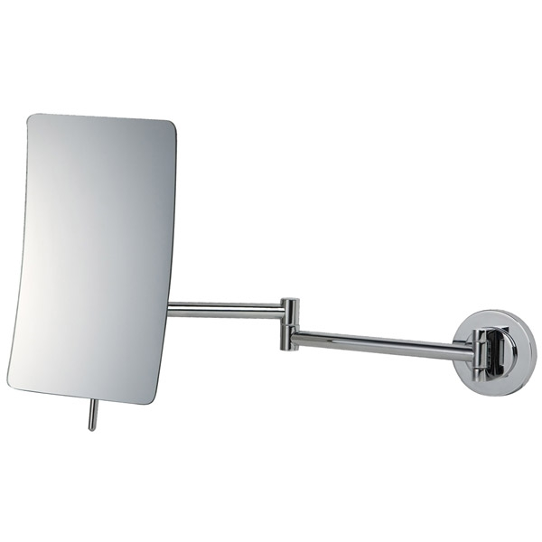 Square 5x Mag Magnifiying Wall Mirror in Chrome 055156