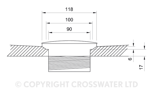 Crosswater 900mm x 900mm x 45mm Quad Stone Resin Shower Tray