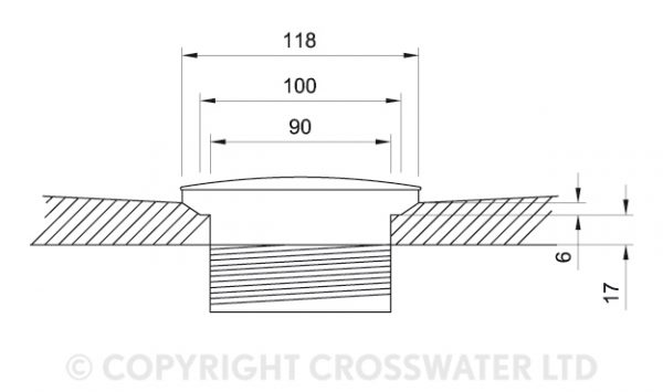 Crosswater 1200mm x 700mm x 45mm Stone Resin Shower Tray