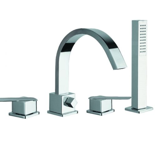 Just Taps Plus 4 Hole Bath Shower Mixer With Kit ST18277