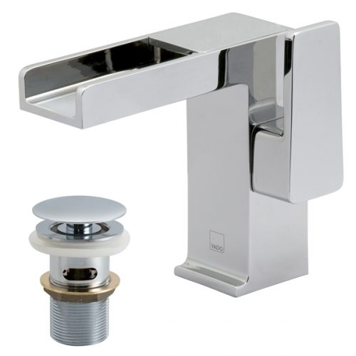 Vado Synergie basin mixer waterfall spout SYN-100/CC-C/P