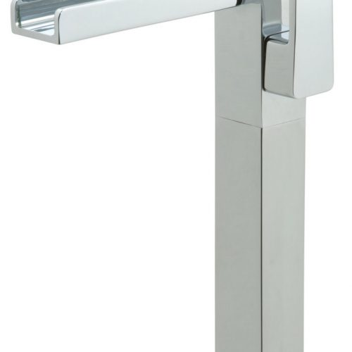 Vado tall basin mixer and waterfall spout SYN-100E/SB-C/P