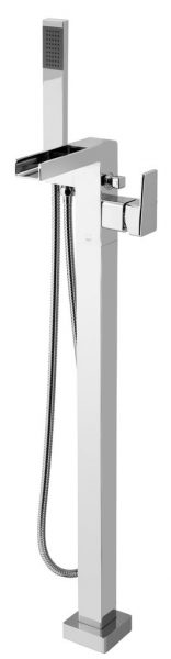 Vado floor bath shower mixer with waterfall SYN-133+K-C/P