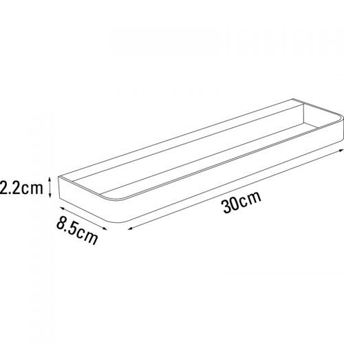Saneux TEMPUS 60cm Glass shelf TA390