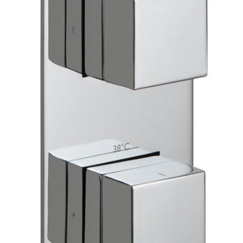Vado Notion 2 Outlet Vertical Shower Valve TAB-148/2-NOT-C/P