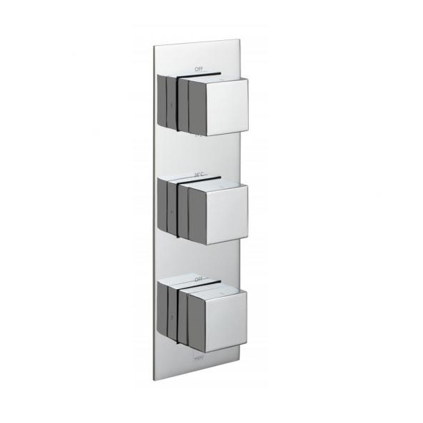 Vado Notion 3 Outlet 3 Handle Vertical Thermostatic Valve-0
