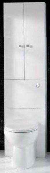 Tall White Back To Wall Toilet Unit with Storage