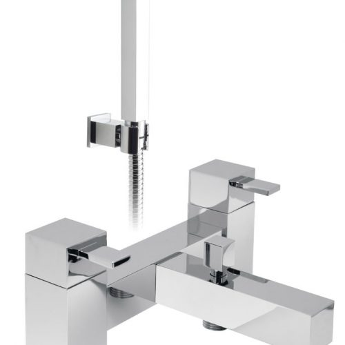Vado Te 2 hole bath shower mixer with kit TE-130+K-C/P