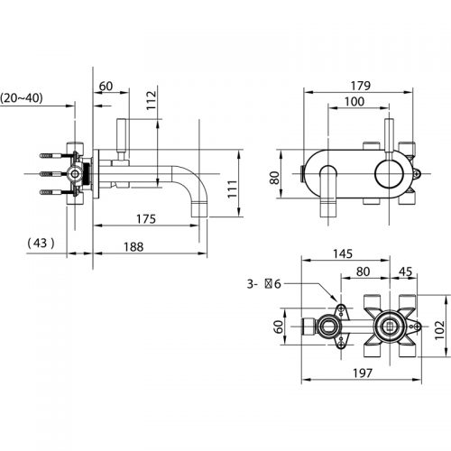 Saneux TEMPUS w/m basin mixer single TE151