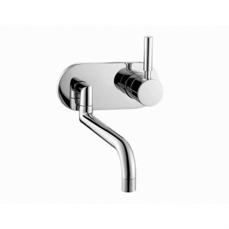 Saneux Tempus wall mounted basin mixer with swivel spout TE250