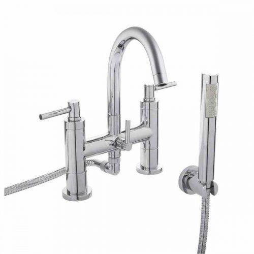 Hudson Reed Chrome Tec Lever Bath Shower Mixer TEL354