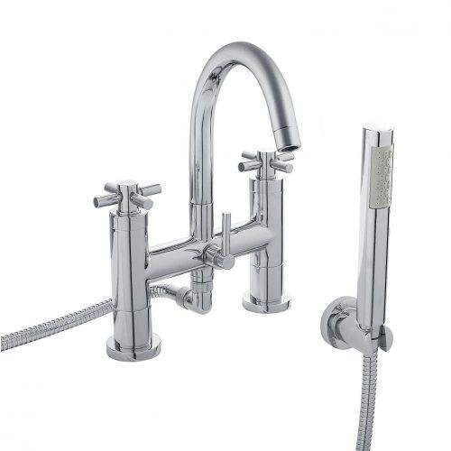 Hudson Reed Chrome Tec Crosshead Bath Shower Mixer TEX354