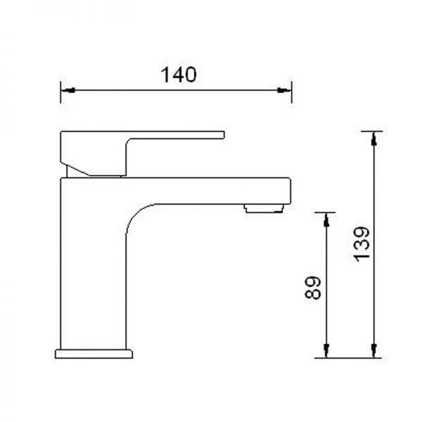 Saneux Tooga Square Basin Sink Monobloc Tap LP TO002