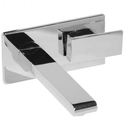 Saneux Tooga Square Wall Mounted Basin Mixer Tap TO005
