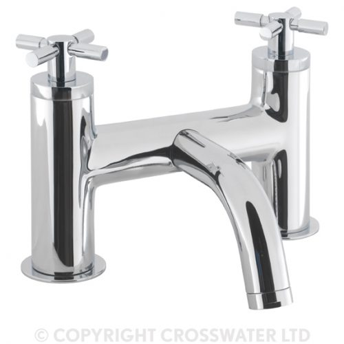 Crosswater Totti Chrome Bath Filler Deck Mounted TO322DC