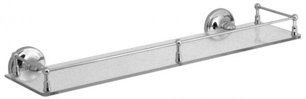 Vado Tournament clear glass galley shelf 510mm TOU-185A-C/P