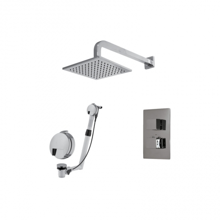 Saneux Tooga Square 2 WAY Bath and Shower Valve TP062