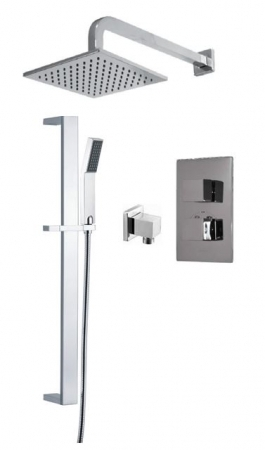 Saneux Tooga Square chrome showering Package TP064