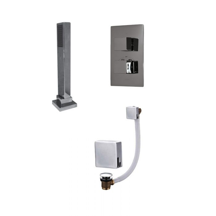 Saneux Tooga TP176 Square Bathroom Showering Package