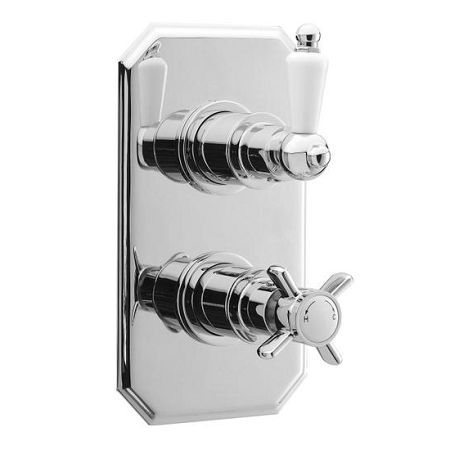 Premier Chrome Beaumont Twin Valve Traditional Plate A3033-0