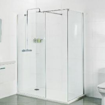 Roman 1500mm x 800mm walk in shower enclosure V10W158CS