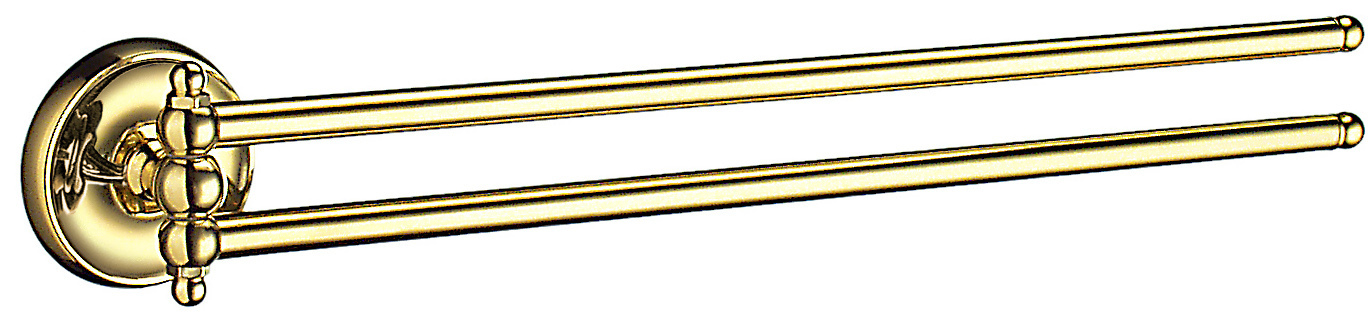 Smedbo Villa Polished Brass Swing Arm Towel Rail V226