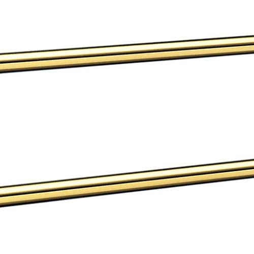 Smedbo Villa Polished Brass Double Towel Rail V2364