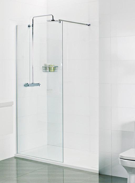 565mm Roman 8mm 600 corner wet room panel V8SP613S
