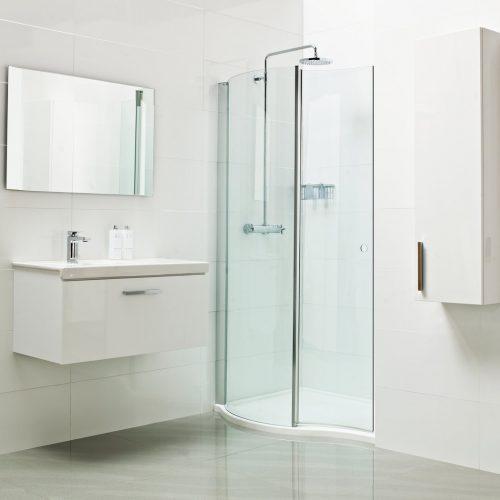 Roman Lumin8 1400mm Wave Walk-In Shower Door V8SPC1413S