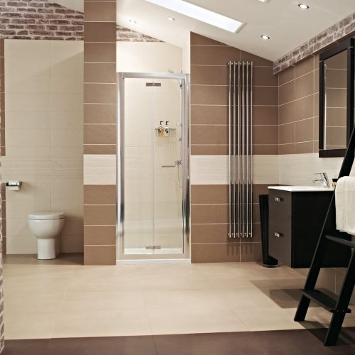 Roman Lumin8 1000 Bi-Fold Shower Door V8V1013S