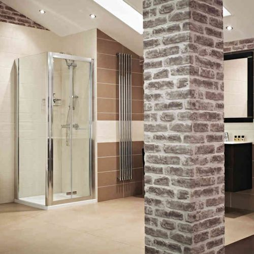 Roman Lumin8 900 Bi-Fold Shower Door V8V913S