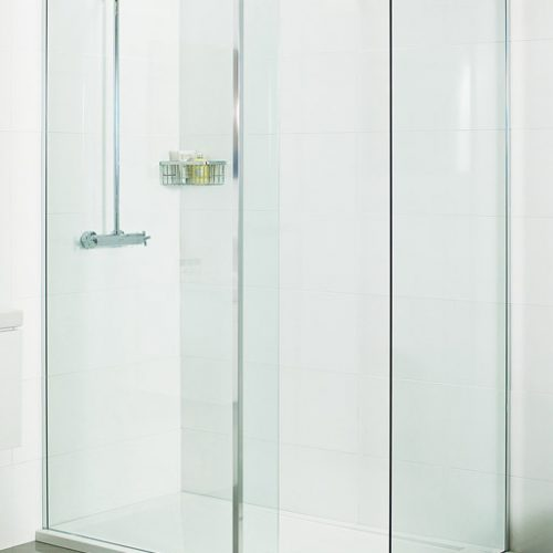 Roman 1600mm x 800mm walk in shower enclosure V8W168CS